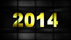 Stock Video Footage of 2014 in Slot Machines Combination, Loop