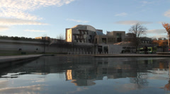 Scottish Parliament Edinburgh Scotland Stock Footage