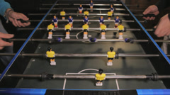 Table Football game Stock Footage