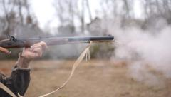 Muzzleloader Shooting - stock footage
