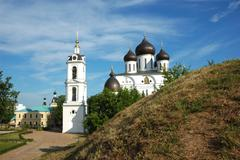 Uspensky cathedral in Dmitrov town, Russia Stock Photos