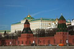 Great Kremlin palace in Moscow Stock Photos