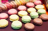 Stock Photo of rows of assorted macaroons