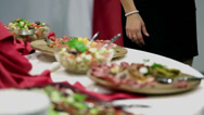 Stock Video Footage of Culinary delights spread all over the table