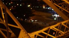 Eiffel Tower Girders Stock Footage