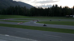 Go-kart drivers compete for first place Stock Footage