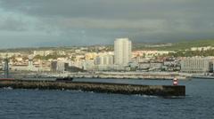 Port of ponta delgada, san miguel island, azores, portugal Stock Footage