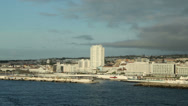 Stock Video Footage of port of ponta delgada, san miguel island, azores, portugal