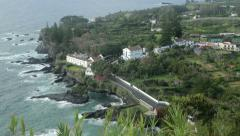 Caloura village, san miguel island, azores, portugal Stock Footage