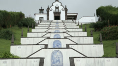 Lady of peace, chapel, vila franca do campo, san miguel island, azores Stock Footage