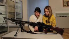 Machine Gun Artifact Stock Footage