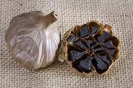 Stock Photo of black garlic