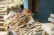 Stock Photo of selling dried fish