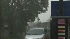 Strengthening Hurricane Winds As Typhoon Haiyan Nears - stock footage