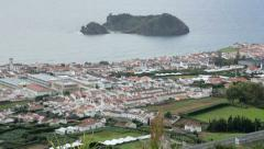 View of vila franca do campo san miguel island, azores Stock Footage
