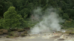 Stock Video Footage of hot springs, furnas, san miguel island, azores, Portugal