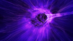 Travel through the wormhole. Warp tunnel through space, teleportation science  Stock Footage