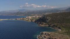aerial corsica Ile Rousse - stock footage