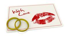 romantic event - stock illustration
