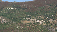 Aerial corsica villages Stock Footage