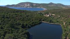 Aerial corsica Argentella Stock Footage