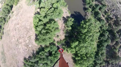 Bambi Bucket Drops from a Blackhawk Helicopter Stock Footage