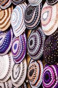 yarmulke - traditional jewish headwear, israel. - stock photo