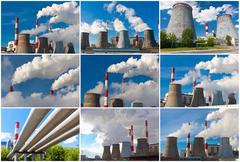 Air pollution - stock illustration