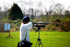 N-ssa skirmisher takes aim Stock Photos