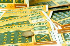 Ticket of money games Stock Photos