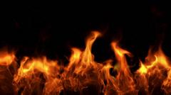 Fire  (Hd, seamless loop) Stock Footage