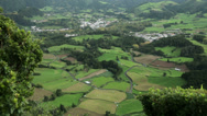 Stock Video Footage of overall view of furnas and fields, san miguel, azores