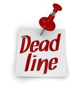 Stock Illustration of deadline concept