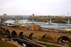 Minneapolis silta Kuvituskuvat