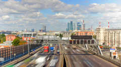 Moscow highway car time lapse Stock Footage
