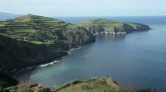 north coast of san miguel island, azores - stock footage