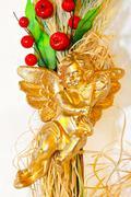 golden angel - stock photo