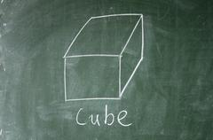 cube sign - stock photo