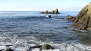 Stock Video Footage of Rugged ocean shoreline