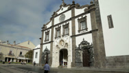 Stock Video Footage of cathedral, ponta delgada, san miguel island, azores