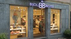 Bijou brigitte jewellery shop, ponta delgada, san miguel island, azores Stock Footage