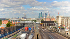 Moscow highway car time lapse - stock footage
