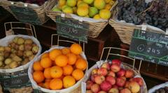 Fruit market, ponta delgada, san miguel island, azores Stock Footage