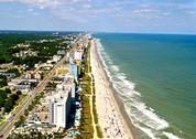 Stock Photo of myrtle beach coastline - aerial view-1