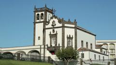 Church of san pedro, ponta delgada, san miguel island, azores Stock Footage