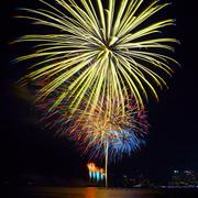 Colorful firework festival in celebration Stock Photos
