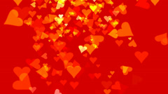 YELLOW AND RED FLYING HEARTS (AFOOTAGE MG--133--c1h) Stock Footage