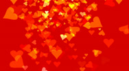 Stock Video Footage of YELLOW AND RED FLYING HEARTS (AFOOTAGE MG--133--c1h)