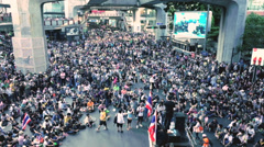Bangkok demonstration 2013 to protest against government Stock Footage