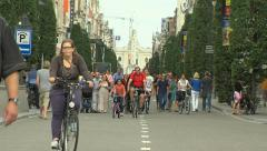 People walking in Leuven (Belgium) Stock Footage